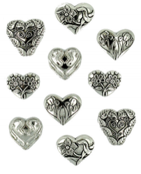 Dress it up! Assorted Silver Hearts